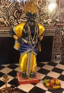 Heilige Figur Krishna Tempel