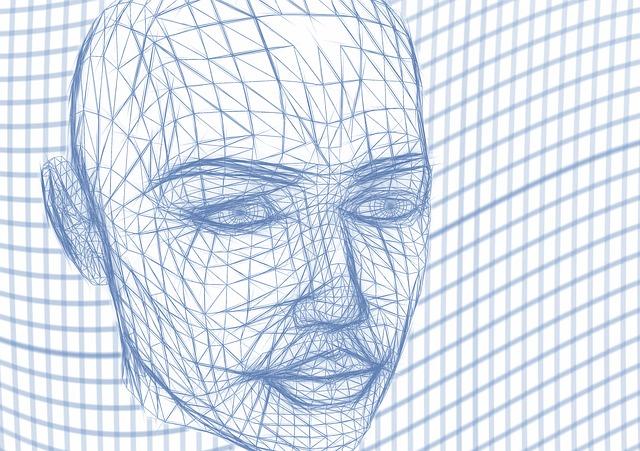 Gitternetz mit Kopf