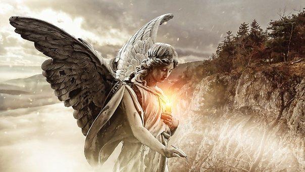 Engel mit lichtvollem Herzen